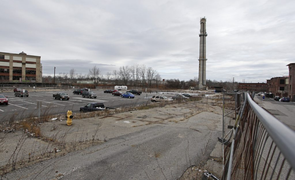 The former Maine Energy trash incinerator site in Biddeford, which the city bought in 2012 for $6.65 million, will host the city's only parking garage.