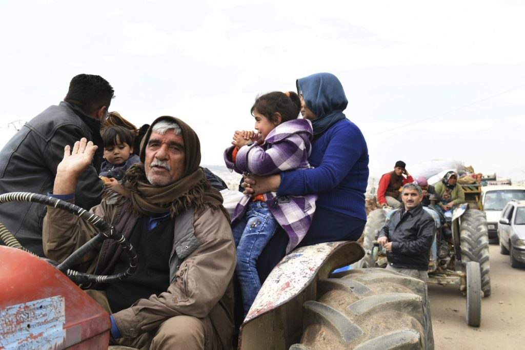 Kurds flee Syrian villages on March 7 as Turkish forces and Syrian rebels battle Kurdish fighters. A letter writer asks that the newspaper keep the reading public on top of what is happening there so Americans can protest to representatives as the need arises.