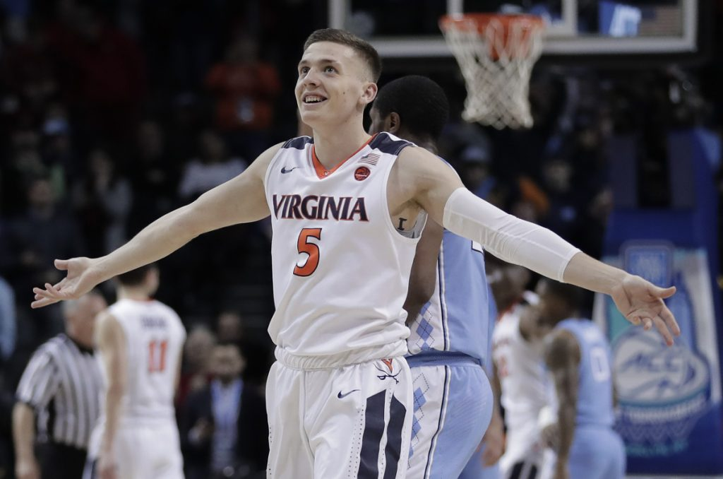 Guard Kyle Guy and Virginia earned a No. 1 seed in the NCAA Division I men's basketball tournament.