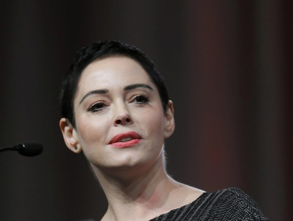 A judge heard arguments Monday on a request from Rose McGowan to dismiss a drug charge.