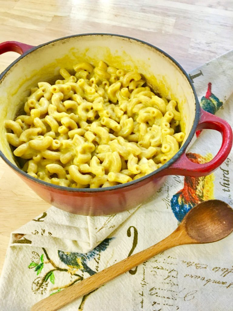 This homemade vegan mac and cheese is as quick to make as a box mix.