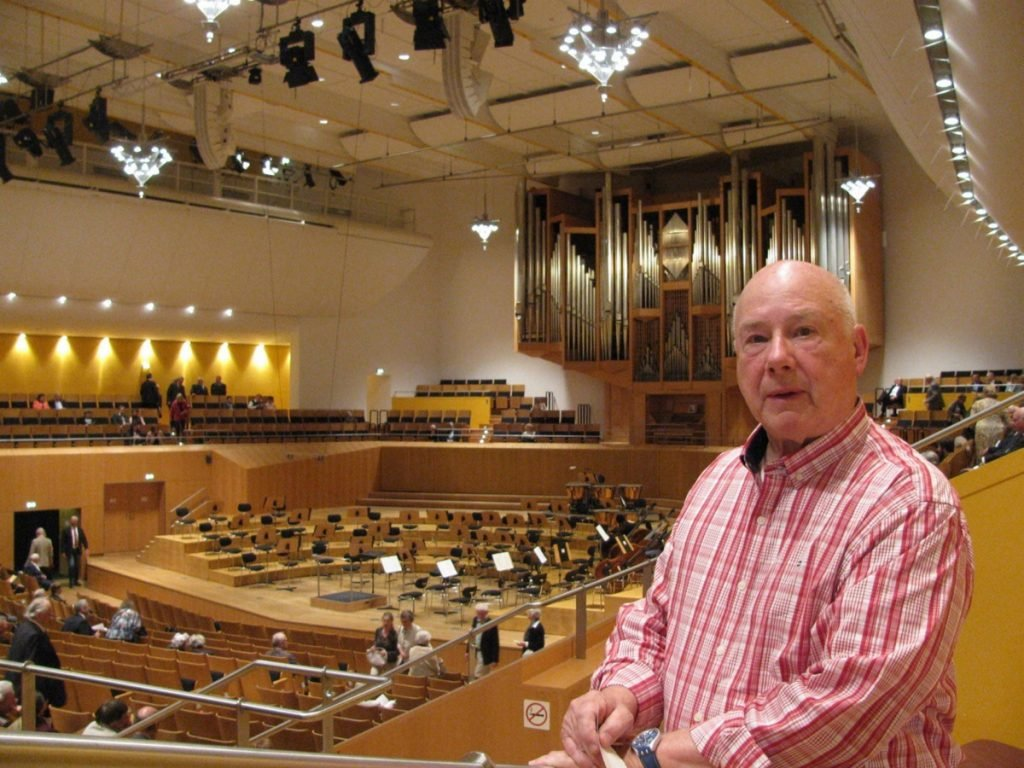 Allen Commeau, shown here at the Bamberg Symphony Orchestra Concert in Bamberg, Germany, donated $50,000 to the music program at Morse High School in Bath.