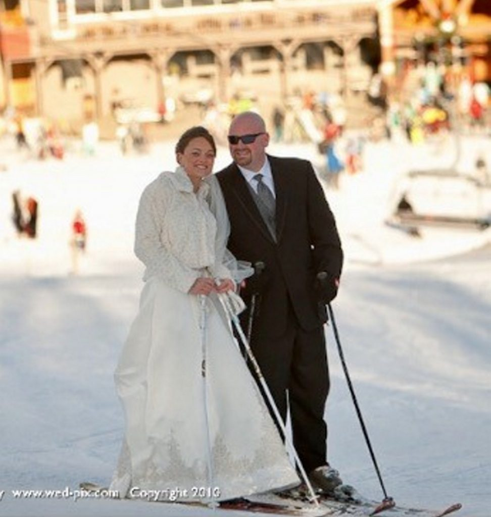 Derek and Erica Cressey went skiing at Sunday River right before their wedding in December 2010.