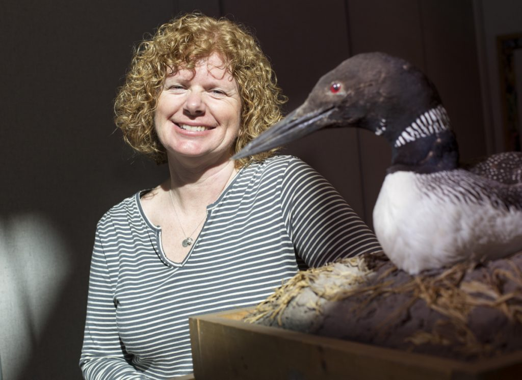 """""""I love my loon counters,"""" Susan Gallo says of the volunteers who help with the annual tally."""
