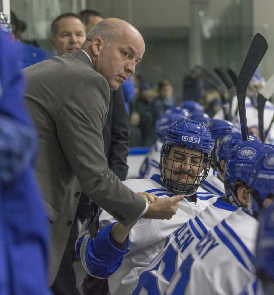 Mike Latendresse has helped the White Mules for the past five years as a part-time assistant. Colby is going to the Division III Frozen Four and Latendresse can share his experiences – as a freshman in 1993 he won a Division I hockey title with UMaine.