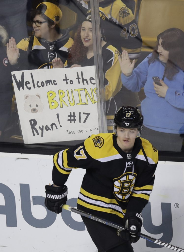 Ryan Donato signed with the Bruins on Sunday after Harvard was eliminated from the ECAC tournament. Donato has been very productive in his first two games, getting two goals and two assists.