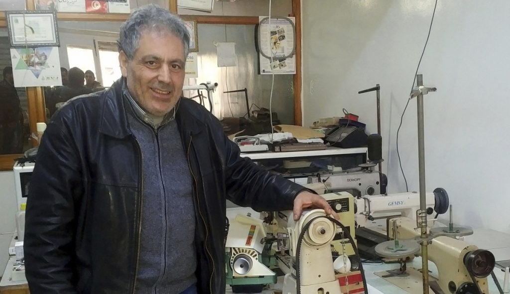 Simon Slama, a sewing machine salesman and repairman, and his family are the only Jews left in Monastir, Tunisia. He is running for office as a candidate of Tunisia's Islamist party.