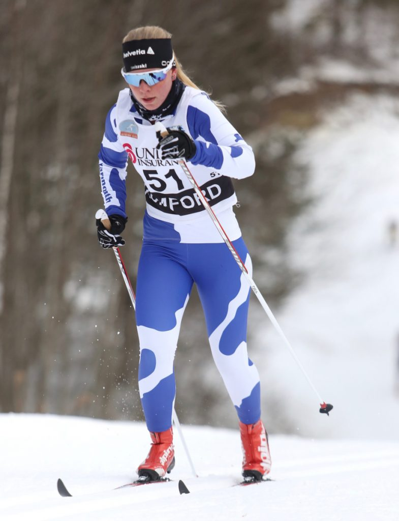 "Yarmouth senior Sophia Laukli, the female Skier of the Year, ""achieved all her goals,"" said her high school coach. Now she's planning a gap year after graduation before returning to concentrate on a collegiate career and the future."