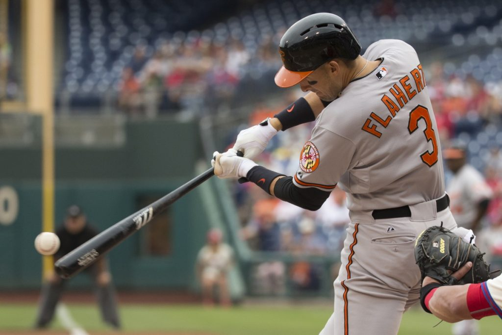 Ryan Flaherty spent the first six years of his major league career with the Baltimore Orioles. On Monday he signed with the Atlanta Braves. (AP Photo/Chris Szagola)
