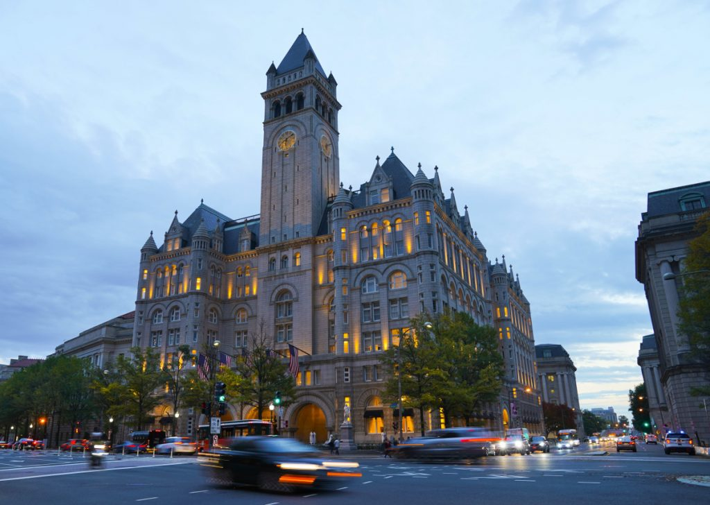 The Trump International Hotel in Washington, located less than a mile from the White House, has been a magnet for foreign dignitaries and D.C. insiders, and a symbol of the murky line between President Trump's political and business interests.