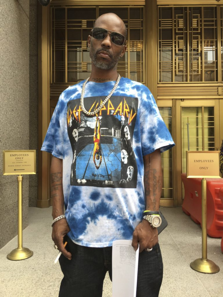 DMX, the rapper also known as Earl Simmons, leaves Manhattan federal court in New York after an appearance in his tax fraud case. DMX  got a year in prison for trying to dodge $1.7 million in taxes.