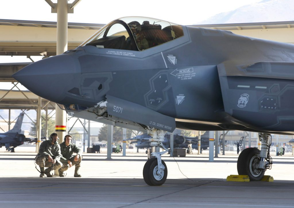 A Lockheed Martin F-35A at Hill Air Force Base, Utah. If the Air Force can't trim operation and support costs by 38 percent, it may have to cut its F-35 order by a third.