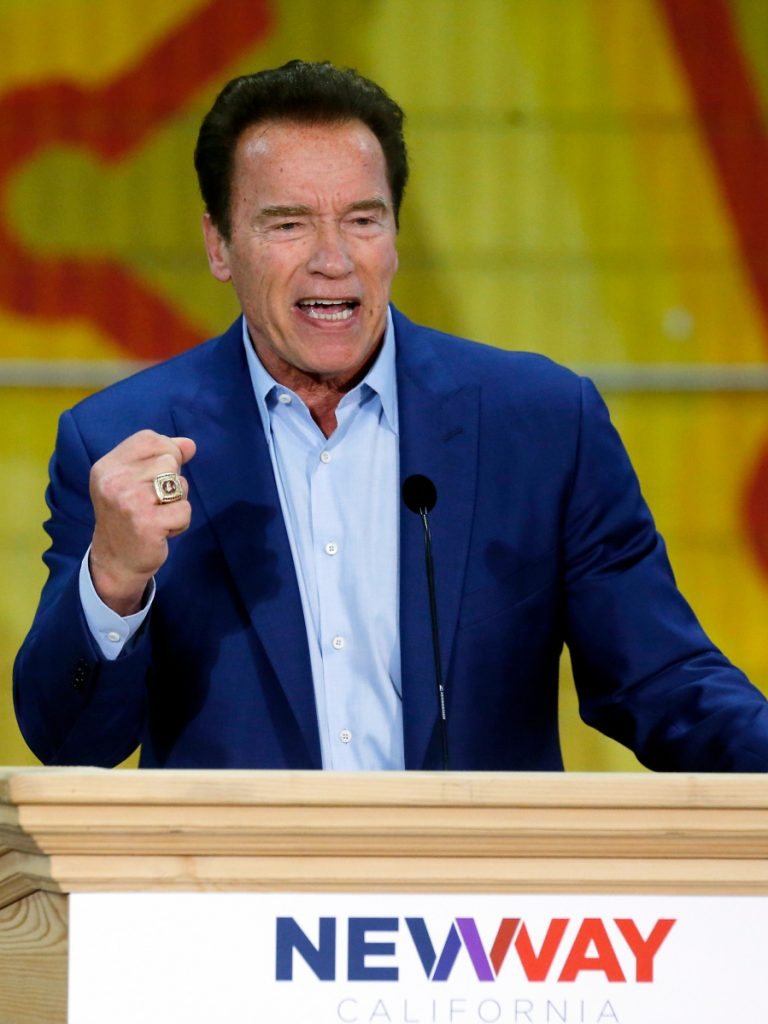 Former California Gov. Arnold Schwarzenegger was said to be in stable condition Friday.