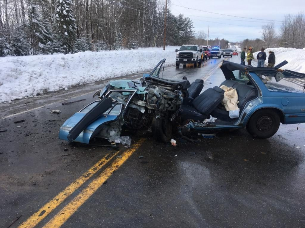 A head-on collision on U.S. Route 2 just east of Canaan resulted in two people being flown to a Bangor hospital in a LifeFlight of Maine helicopter with injuries that apparently were not life-threatening. The road was blocked to traffic for about three hours.