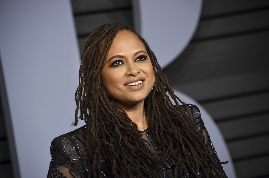 In this March 4, 2018, file photo, Ava DuVernay arrives at the Vanity Fair Oscar Party in Beverly Hills, California.