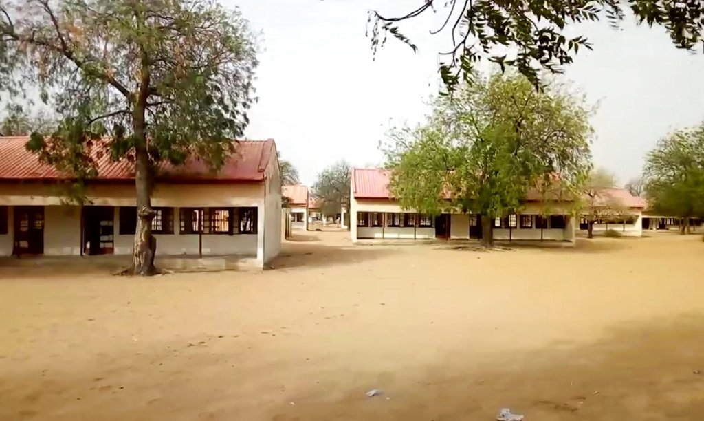The Government Girls Science and Technical College in Dapchi, Nigeria, where 110 schoolgirls were abducted last month.