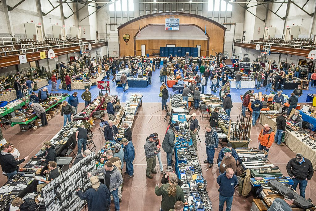 The 42nd annual Twin Cities Gun Show at the Lewiston Armory over the weekend featured many guns and gun-related products.