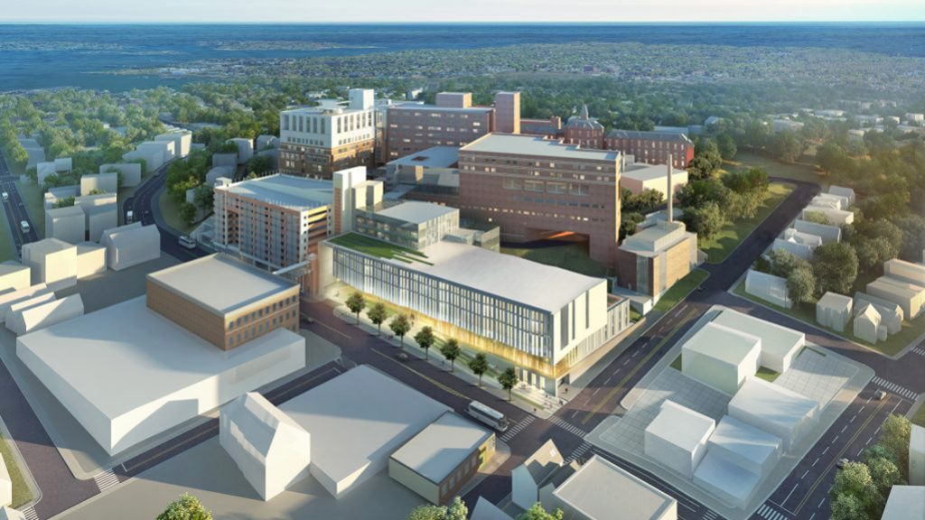 Artist's rendering of Maine Medical Center's expansion plan.