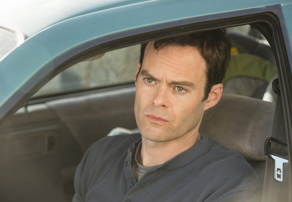 Bill Hader plays an ex-Marine hit man who develops a passion for acting, in