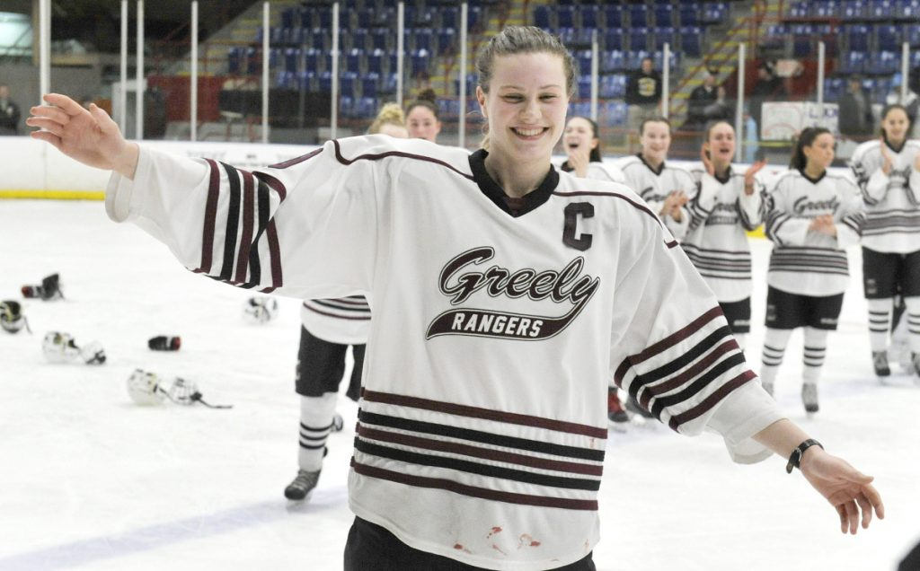 After frustrating losses for her team in the regional final the previous two seasons, Courtney Sullivan was a dominant force this winter in Greely/Gray-New Gloucester's run to a state title.