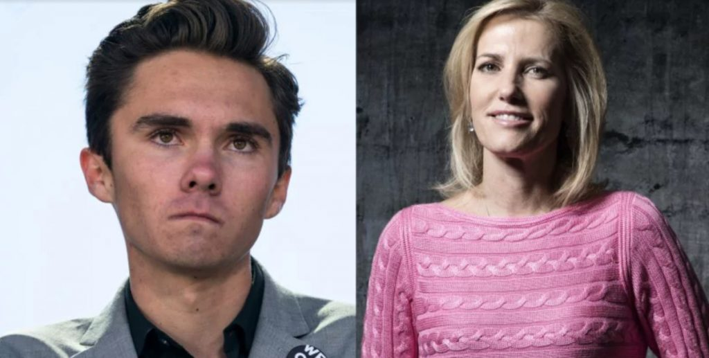 David Hogg says Laura Ingraham's apology was to save advertisers.