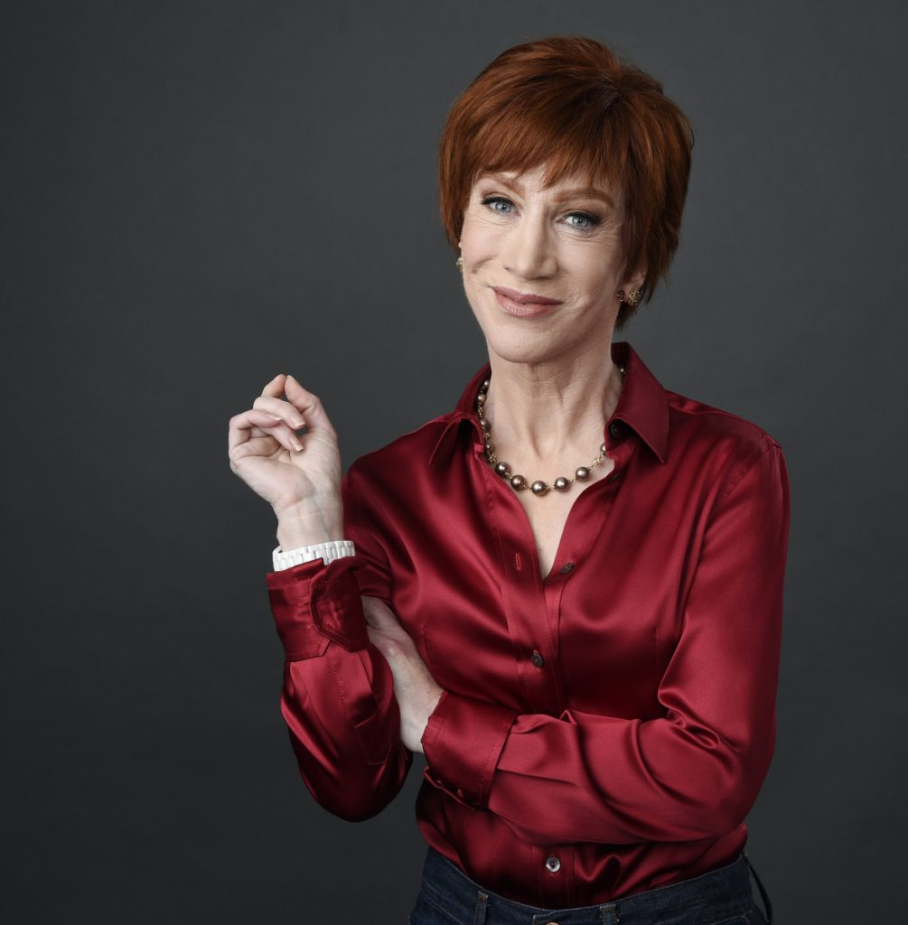"Comedian Kathy Griffin poses to promote her upcoming ""The Laugh Your Head Off World Tour."""