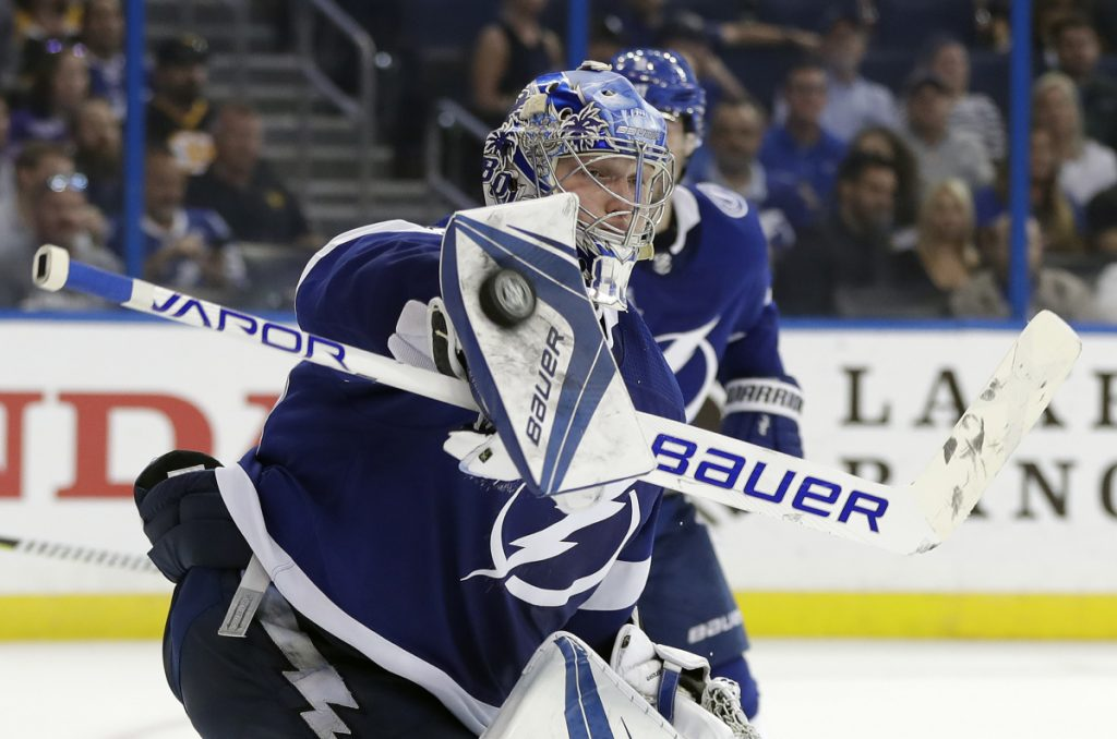 Lightning blank Bruins to set single-season points record