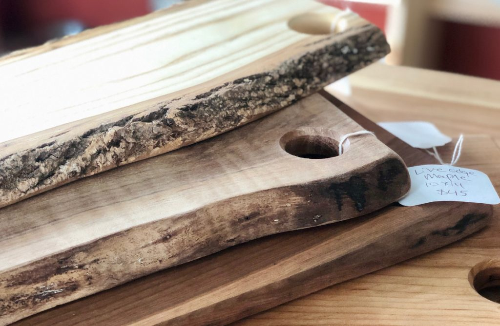 Cutting Boards Still Have Live Edge Of Bark On The Side