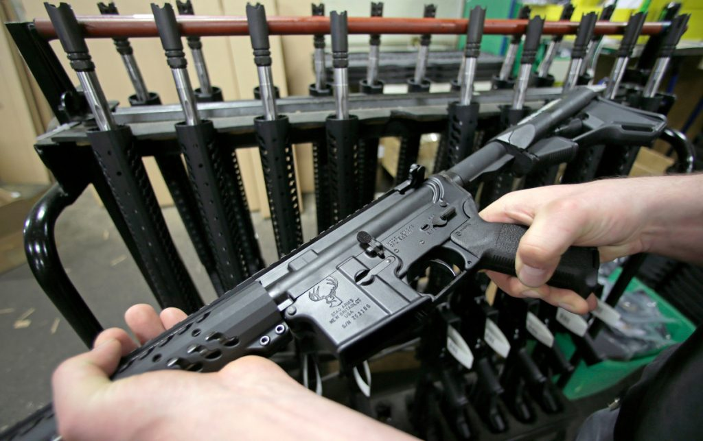 "A ruling released Friday by a federal judge in Boston dismissed a lawsuit challenging Massachusetts' ban on assault weapons, such as this AR-15, and large-capacity magazines, stating that assault weapons are beyond the scope of the Second Amendment right to ""bear arms."""