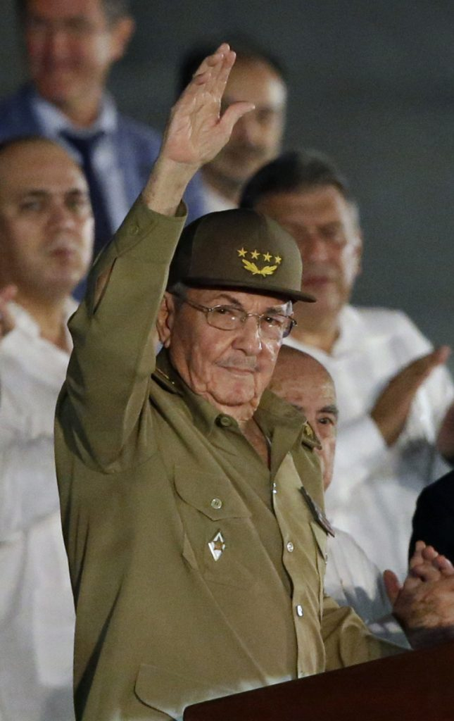 President Barack Obama was seen shaking hands with Cuba's President Raul Castro, above, in 2015. The current White House says it will not engage with Cuba at a Latin America summit Friday and Saturday.