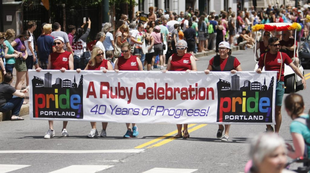 "The 2014 Pride Portland parade marks the 40th anniversary of the Maine LGBTQ movement's founding. New measures welcome the event's sponsors ""while not letting profit rule,"" a reader says."