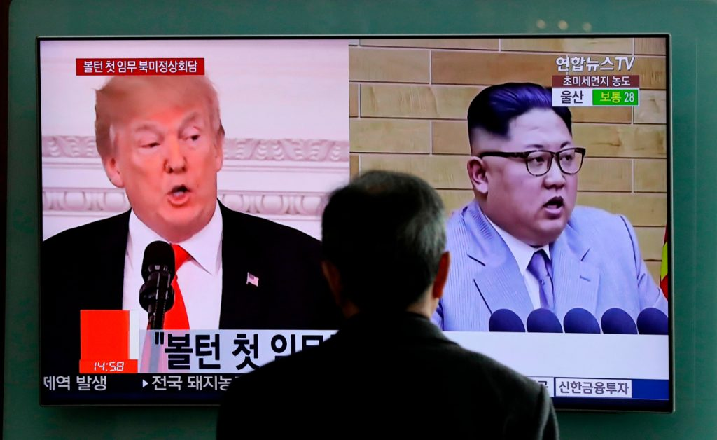 """A Trump administration official said Sunday that the United States has now """"confirmed that Kim Jong Un is willing to discuss the denuclearization of the Korean Peninsula."""" The official wasn't authorized to be quoted by name and demanded anonymity. The meeting could occur as early as May. (AP Photo/Lee Jin-man, File)"""