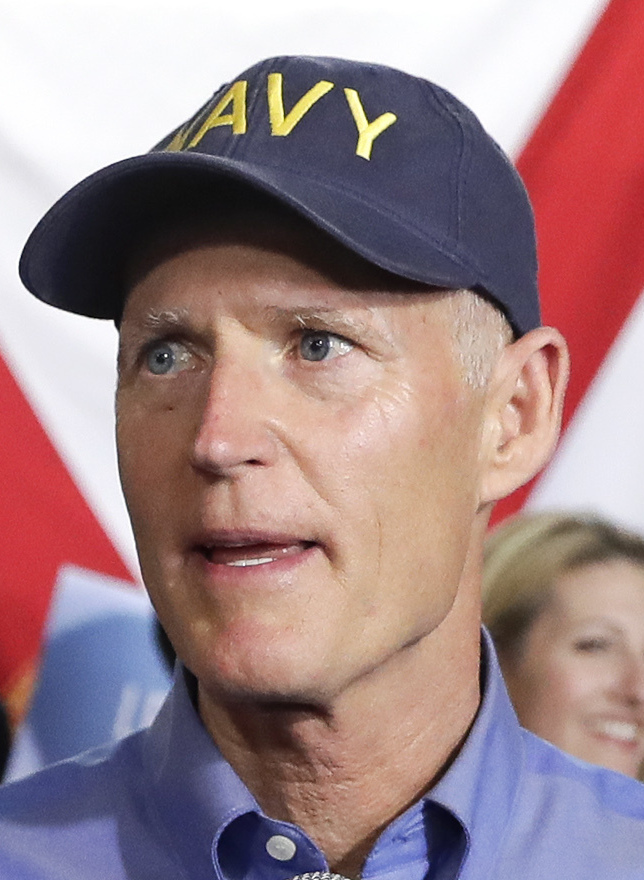 Florida Gov. Rick Scott announces his bid to run for the U.S. Senate at a news conference Monday in Orlando.