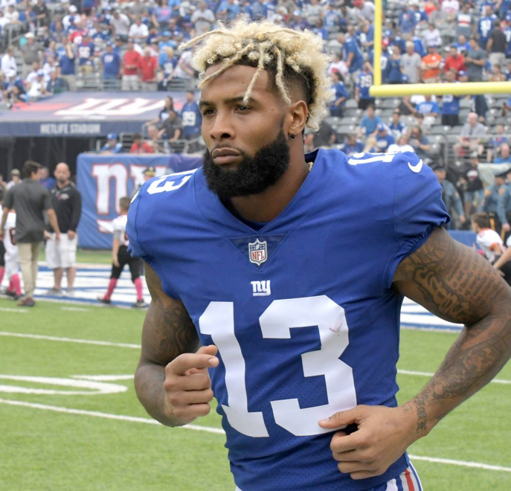 It has been a strange offseason for wide receiver Odell Beckham Jr., but he reported to organized team activities Monday, the first under new Giants coach Pat Shurmur.