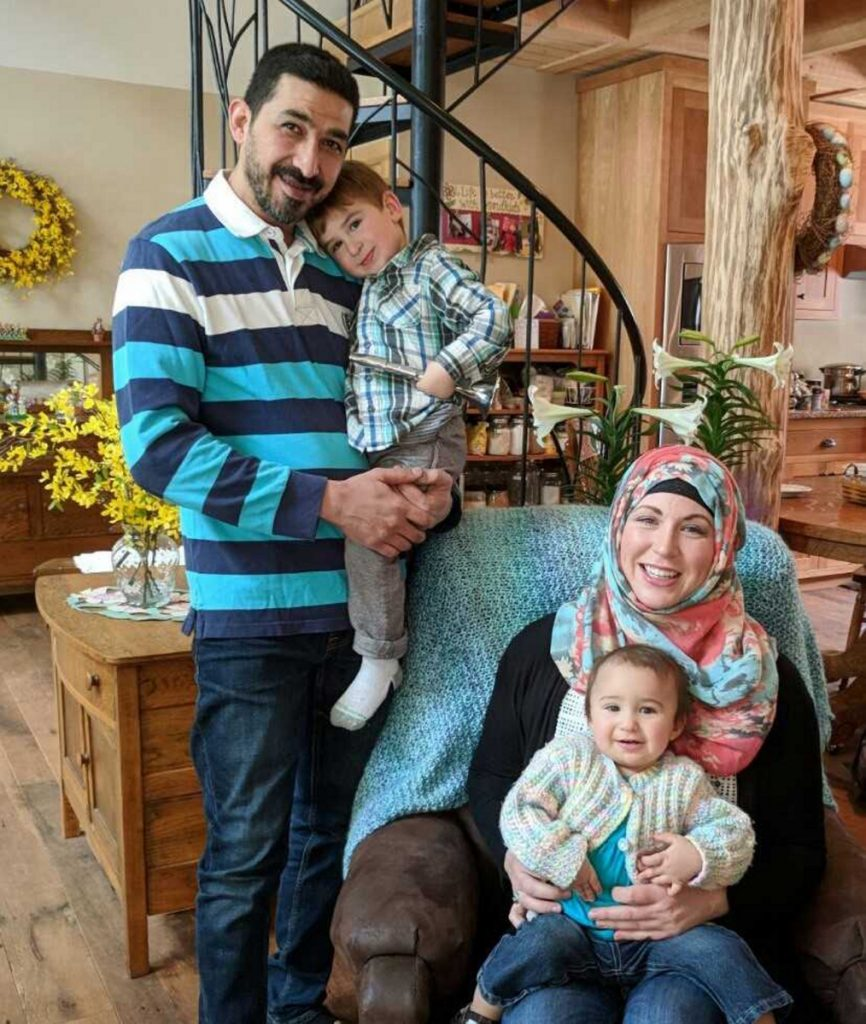 Hussam Alrawi and his wife, Kathryn Piper, are worried about the safety of their family, which includes their son, Mohammad-Noor, 3, and daughter, AlThurayya, 15 months.