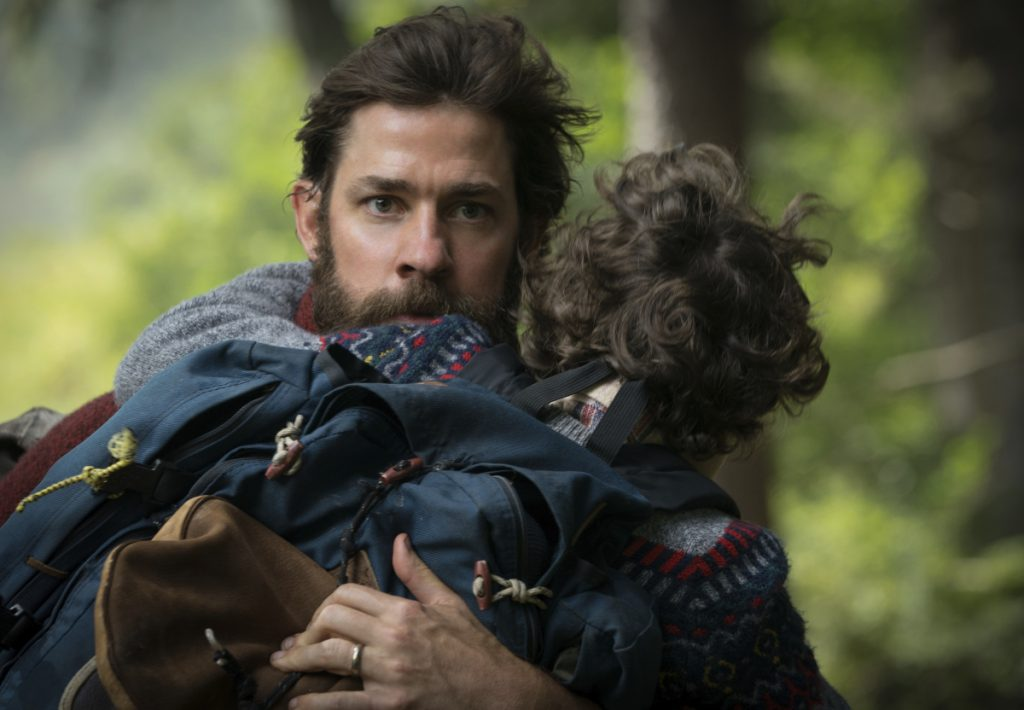 "Actor-director John Krasinski with Noah Jupe in ""A Quiet Place."""