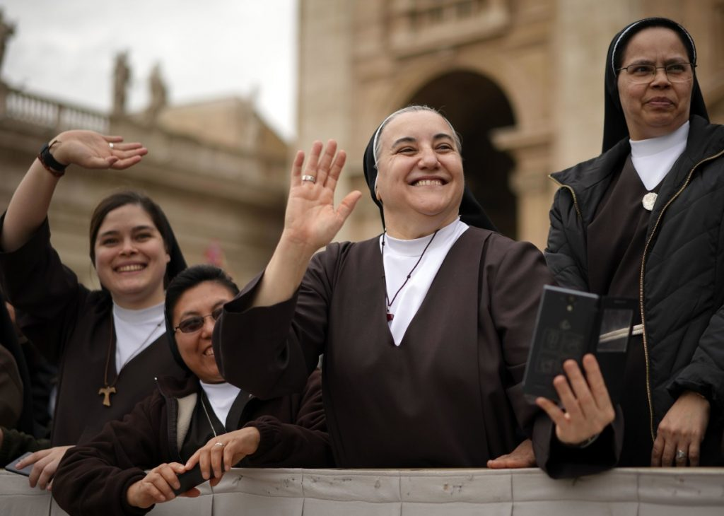 Vaticans latin american panel urges change on womens roles nuns greet pope francis in st peters square the issue of womens roles in m4hsunfo