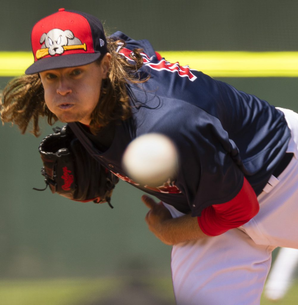 Trey Ball is thriving so far this season as a reliever for the Sea Dogs, allowing just two hits and two walks in 6  innings.