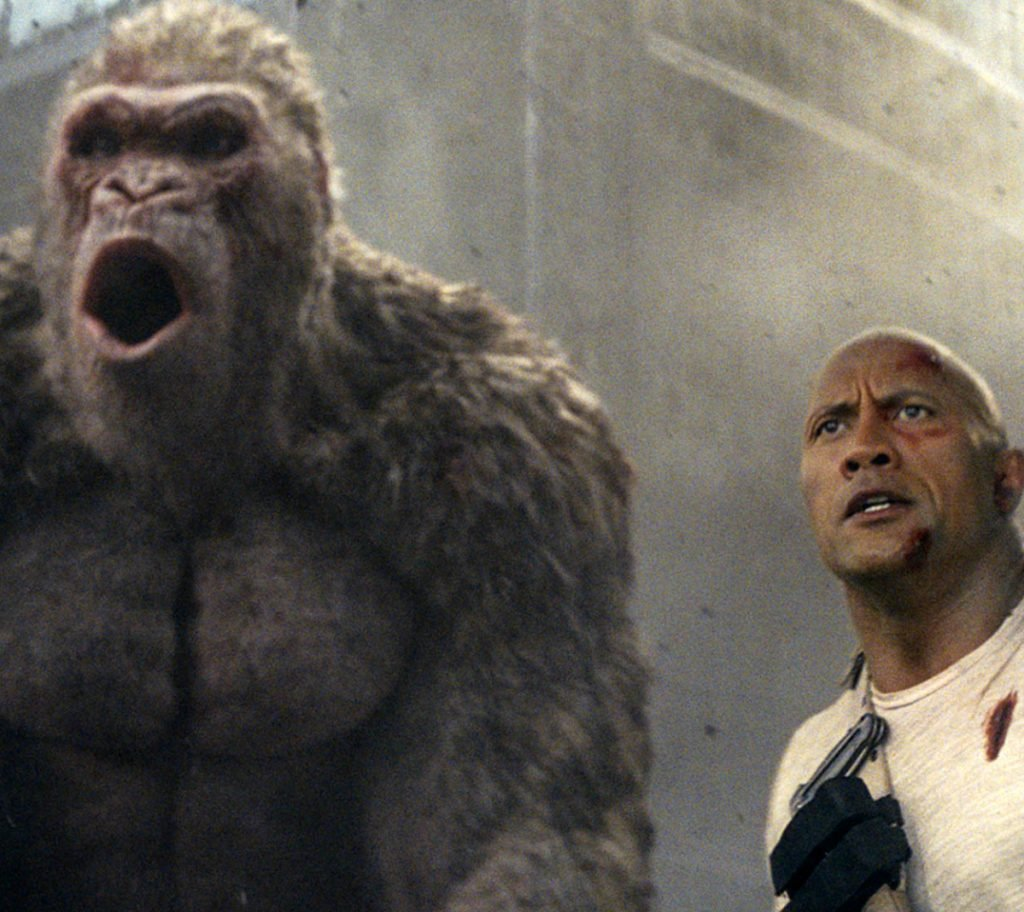 "Dwayne Johnson stars in ""Rampage."" The film's Friday the 13th opening turned out to be lucky, grossing $148.6 million."