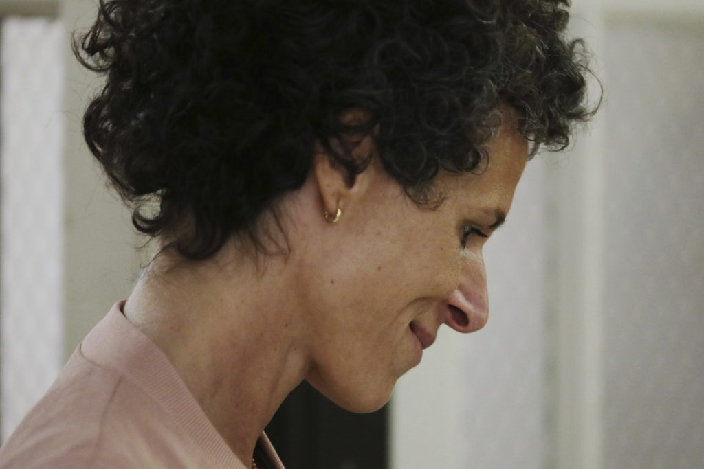 Andrea Constand arrives to resume her testimony during Bill Cosby's sexual assault retrial Monday.