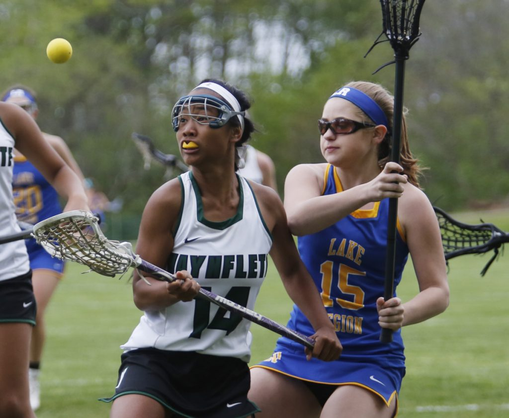 Ya Stockford of Waynflete, left, is one of the biggest threats on a team that will pose a danger for Class B opponents. Stockford, a senior, is a team captain and unselfish player with plenty of speed.