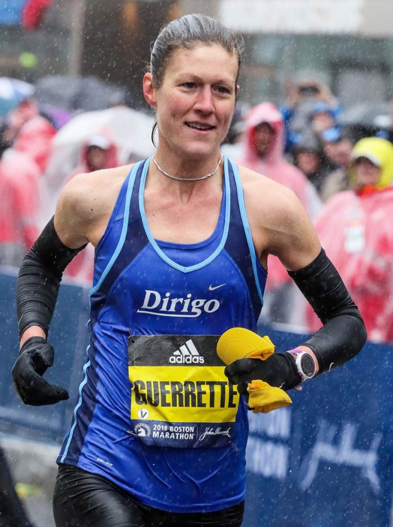 Tracy Guerrette, of St. Agatha, was the top Maine women's finish at the Boston Marathon, running 2:54:02