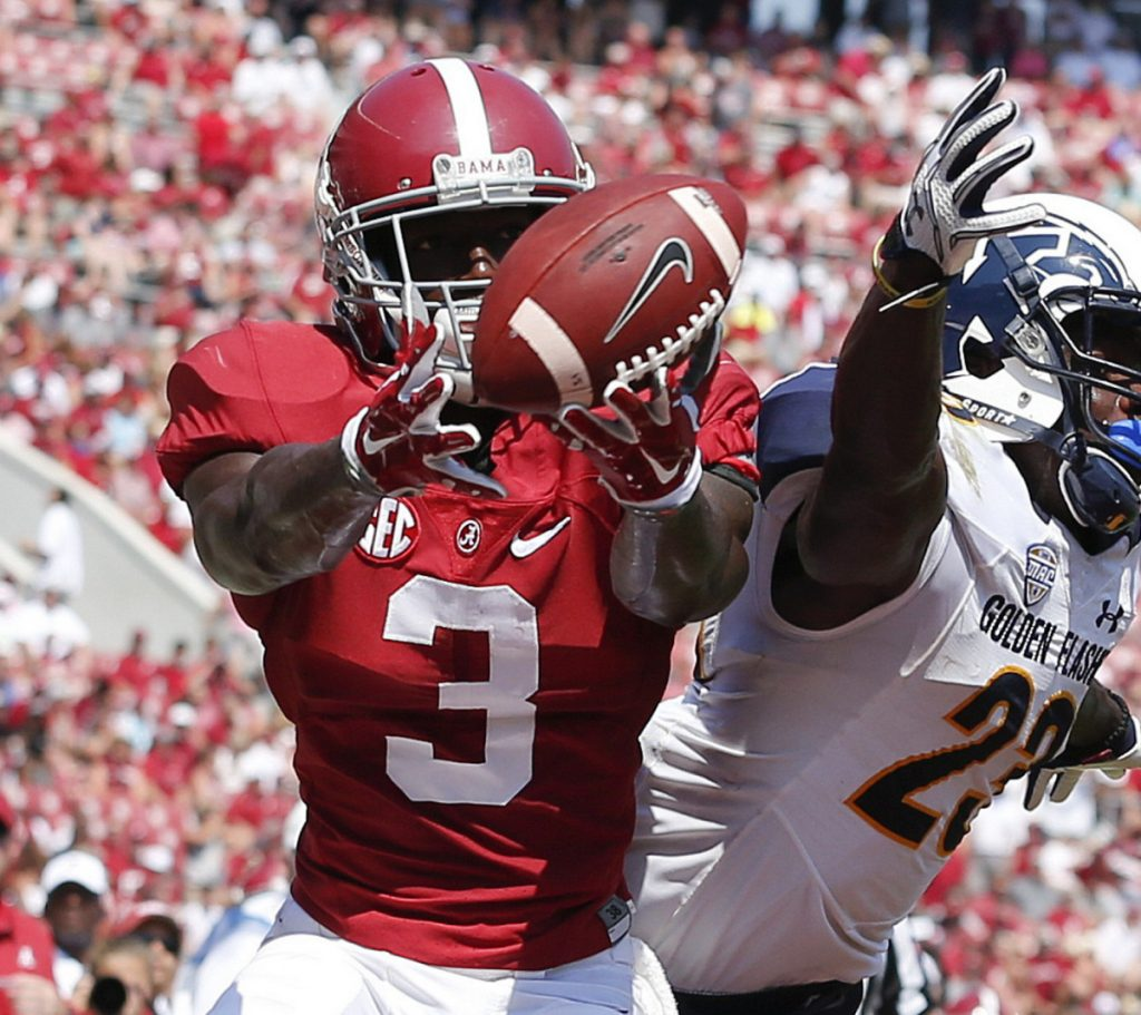 Alabama's Calvin Ridley, considered among the best receivers in the upcoming NFL draft, was scheduled for a visit with the Patriots on Wednesday.