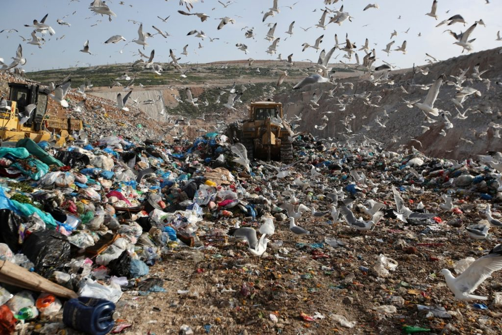 Earthmovers push mountains of garbage as seagulls fly over Greece's largest landfill at Fyli on the outskirts of Athens. The British government is considering a bill to end the use of plastic straws, drink stirrers and cotton buds – and is urging other Commonwealth nations to ban the practice as well.