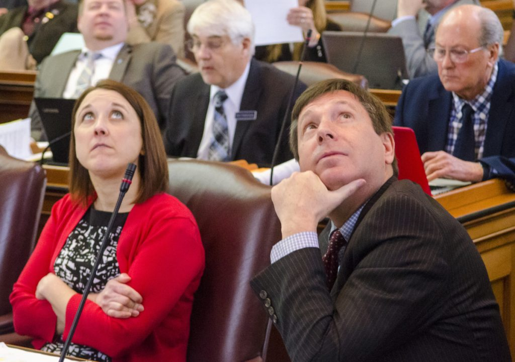House Republican Leader Rep. Ken Fredette, right, is a member of the tea party class that came to Augusta in 2011 with Gov. LePage. Fredette has been a key player in a strategy of relentless obstructionism.