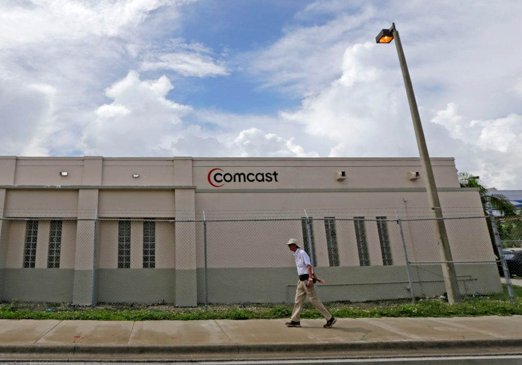 Comcast laid out a strategy Wednesday that showed it was interested in being a good corporate citizen in Britain and in using Sky PLC as a platform for growth in Europe.