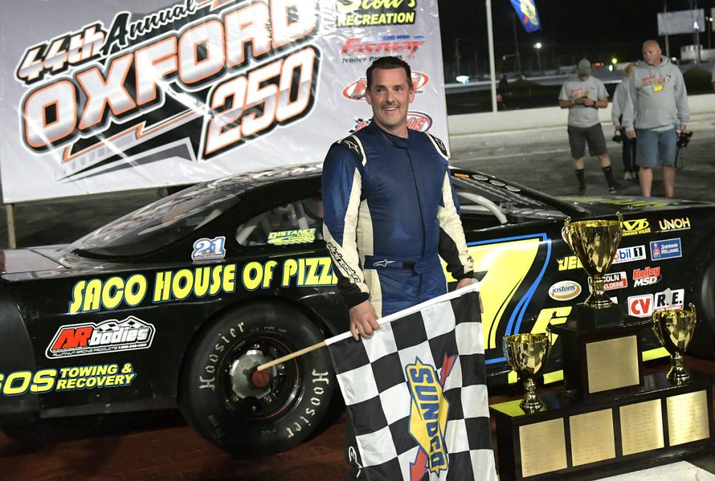 Curtis Gerry, who won the Oxford 250 last summer, is among the favorites to win the race again on Sunday.