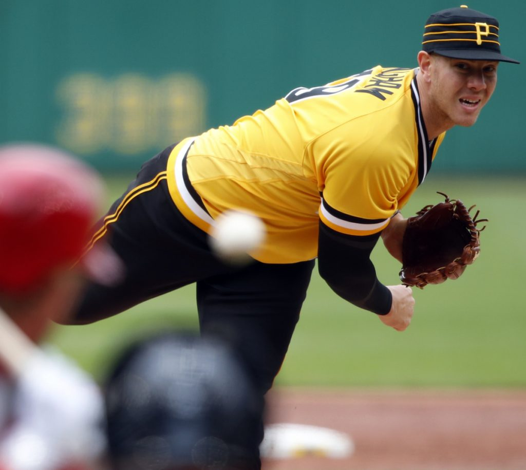 Pirates' Kingham loses perfect game in 7th in his MLB debut