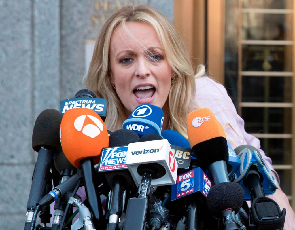 Adult film actress Stormy Daniels filed a defamation complaint against President Trump in federal court in New York on Monday. At issue is a tweet Trump made in which he dismissed a composite sketch that Daniels says depicts a man who threatened her in 2011 to stay quiet about her alleged sexual encounter with Trump.