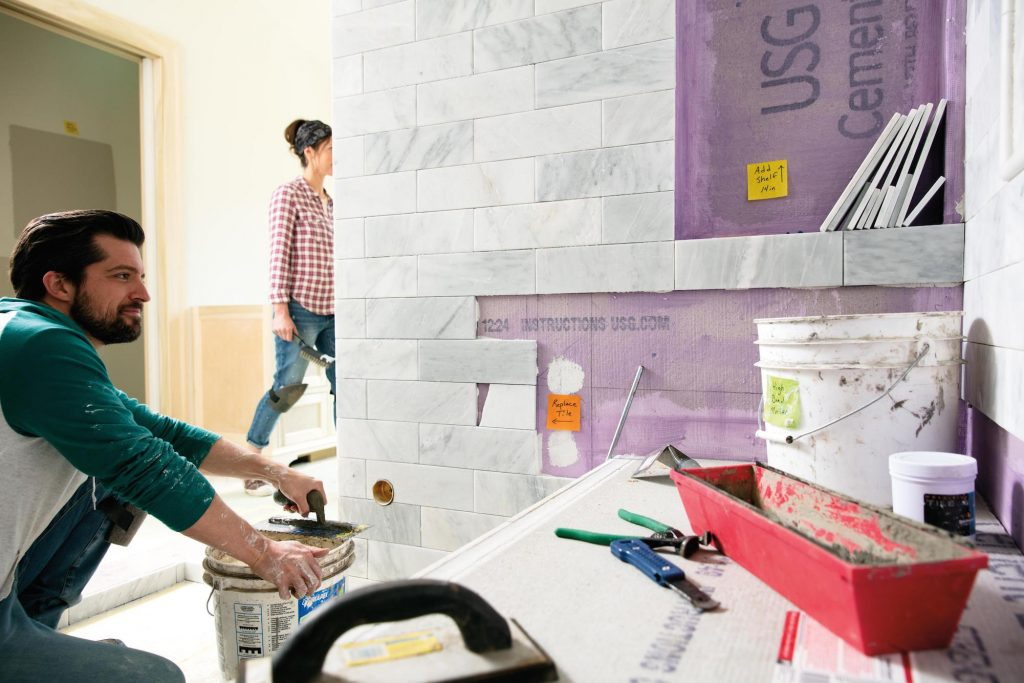 Durable Post-it Extreme Notes are a boon to people carrying out home improvements.